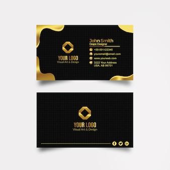 Goldene visitenkarte