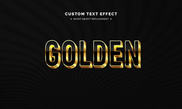 Goldener 3d-textstileffekt