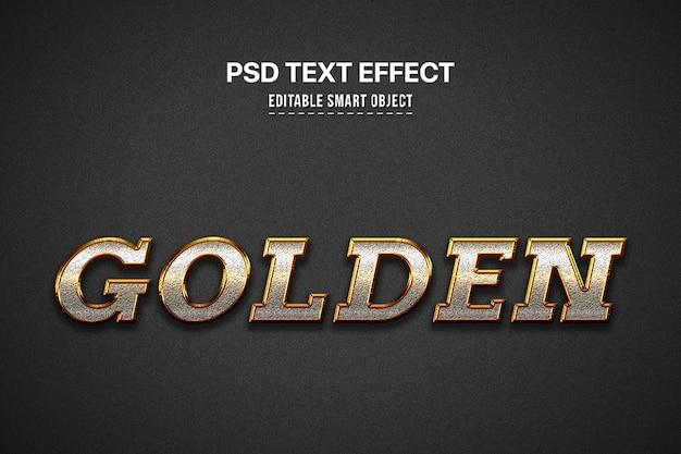 Goldener arteffekt des textes 3d