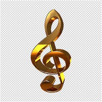Goldener musikschlüssel