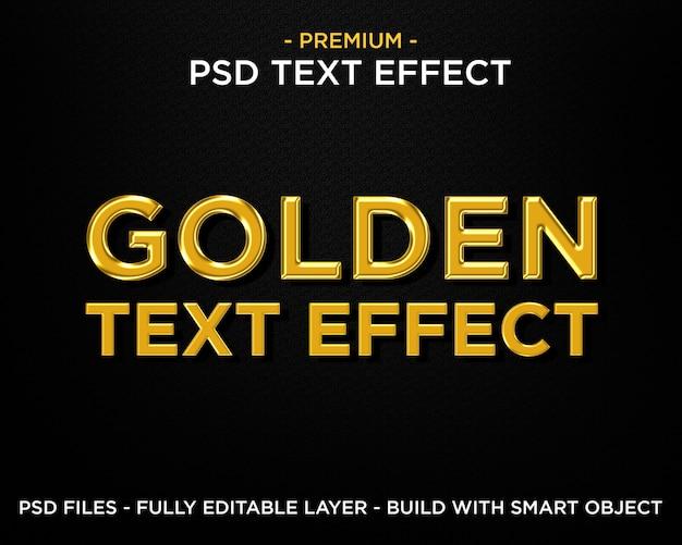 Goldener text-effekt