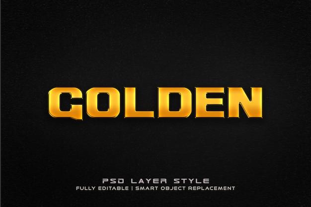 Goldener textarteffekt