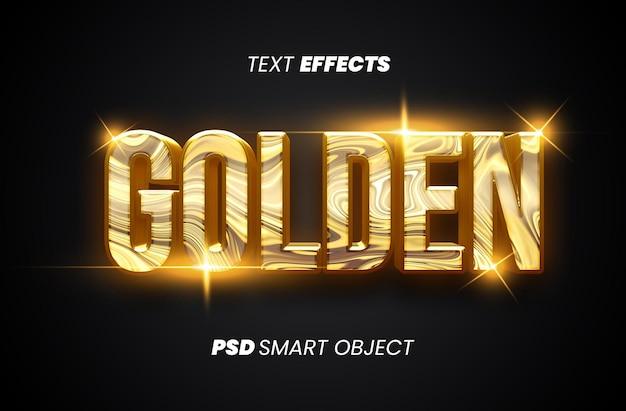 Goldener textstileffekt premium psd