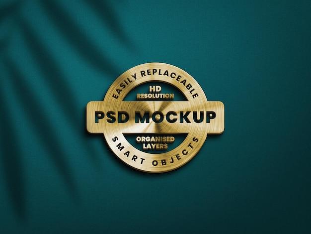 Goldenes glänzendes logo-modell