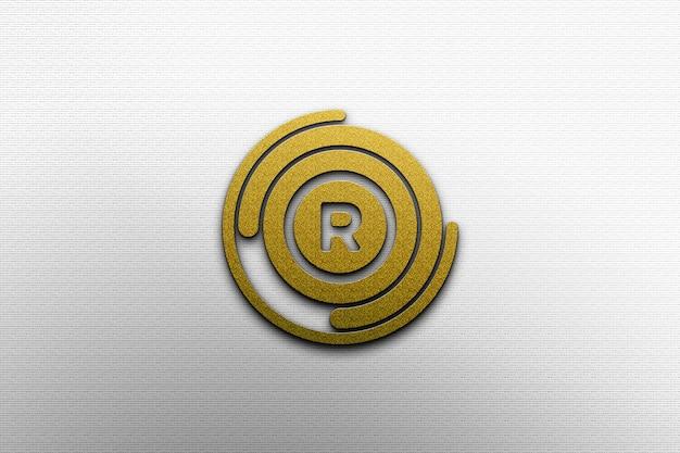 Goldenes logo-modell