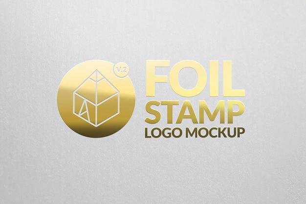 Goldfolie stempel logo mockup