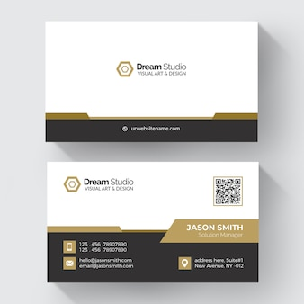 Goldform-visitenkarte