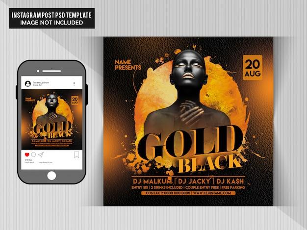 Goldschwarzer party-flyer