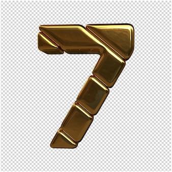 Goldzahl 3d rendering isoliert