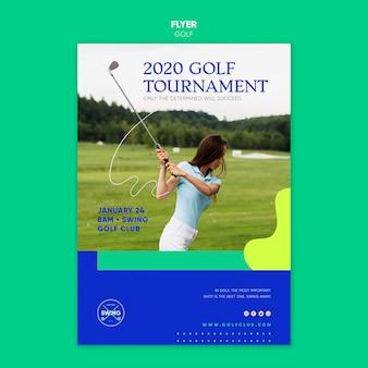 Golf konzept flyer vorlage