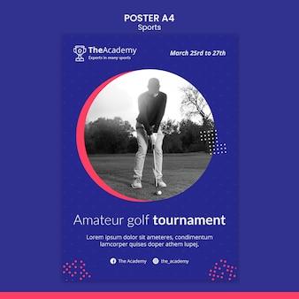 Golf turnier poster vorlage