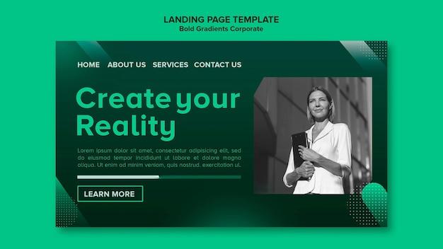 Gradient landing page template für die unternehmenskarriere
