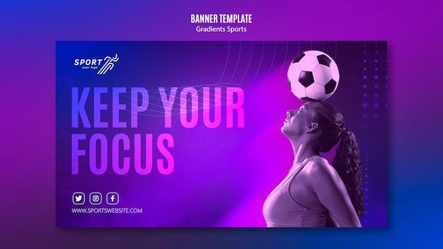 Gradient sport banner vorlage thema