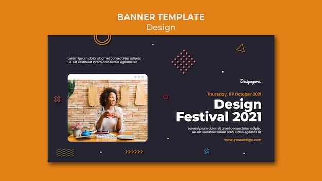 Grafikdesign-banner-vorlage mit foto