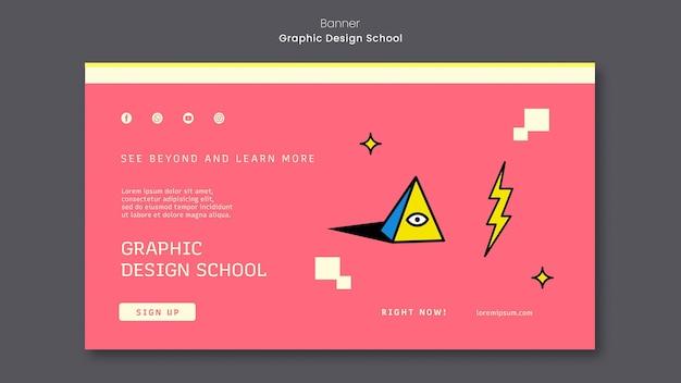 Grafikdesign-schulfahnenschablone
