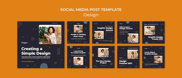Grafikdesign social-media-beiträge