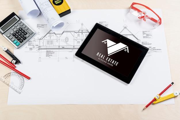 Grafiktablett für immobilien und pläne