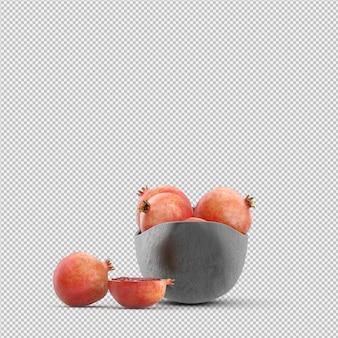 Granatapfel 3d übertragen