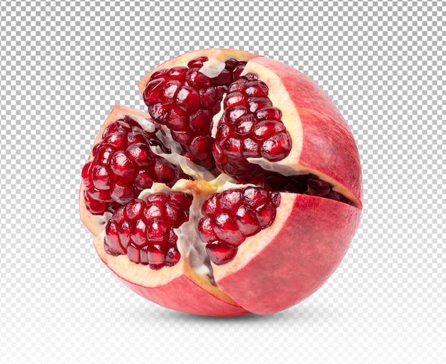 Granatapfel isoliert