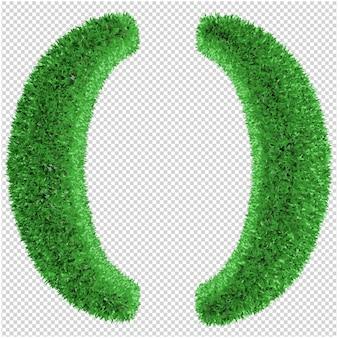 Grassymbol 3d rendering