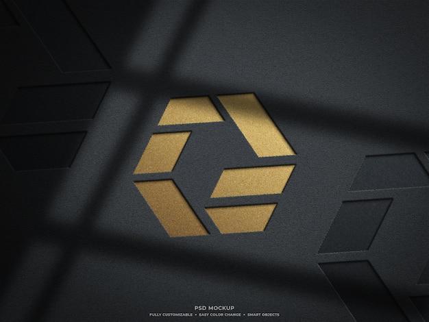 Graviertes logo-modelldesign