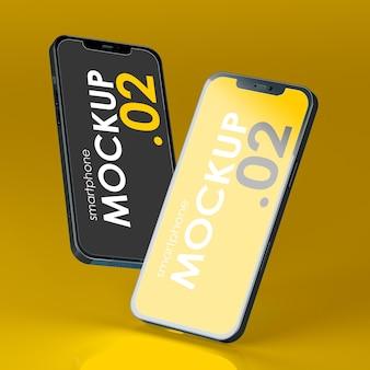 Gravity smartphone display mockup psd Premium PSD