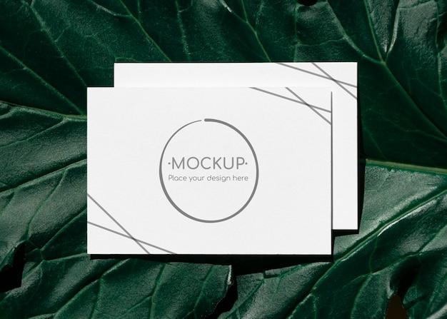 Green leaf karten mockup