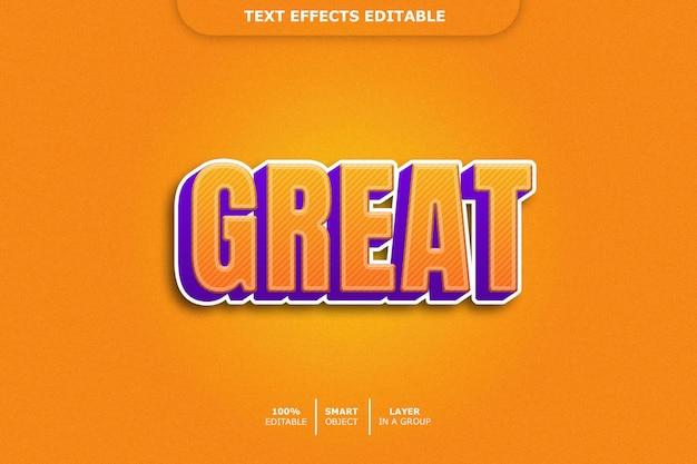 Großartiger bearbeitbarer texteffekt