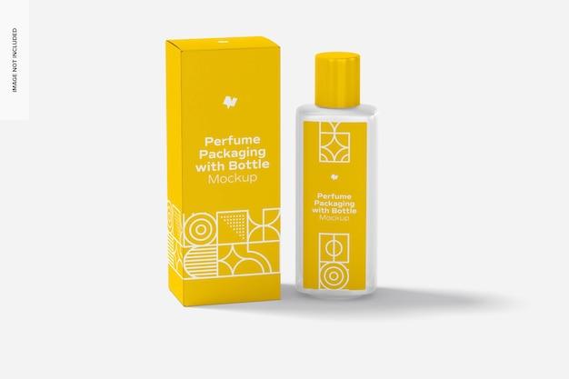 Große parfümverpackung mit flaschenmodell