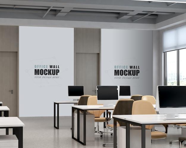 Großer arbeitsbereich mit modernem design wandmodell