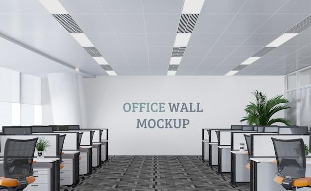 Großer und moderner arbeitsbereich mit wandmodell