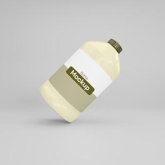 Großes flaschenmodell premium psd