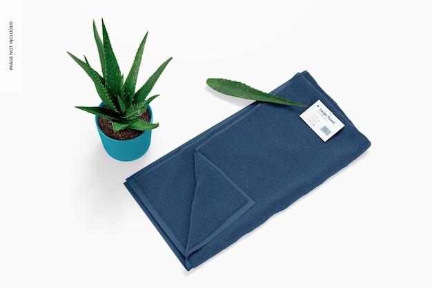 Großes handtuch mit topfpflanzenmodell