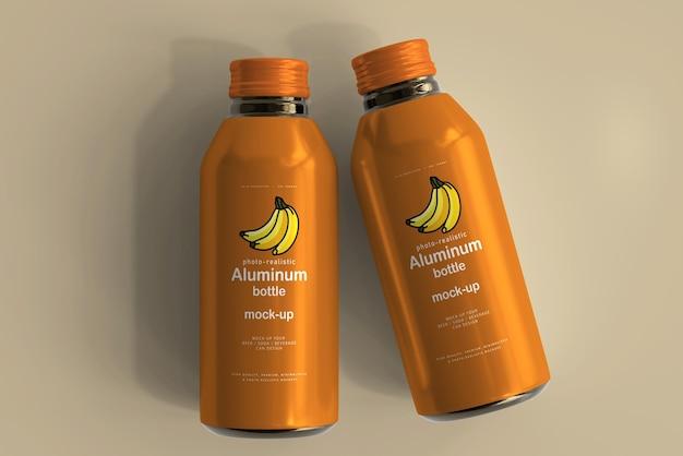 Großes modell einer aluminium-getränkeflasche
