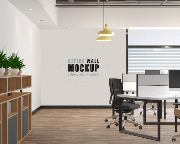 Großes und modernes büroraumwandmodell