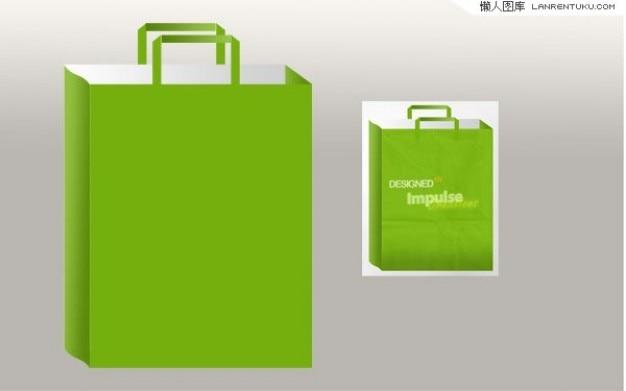 Grüne geschenktüte für personalisieren in zwei größen