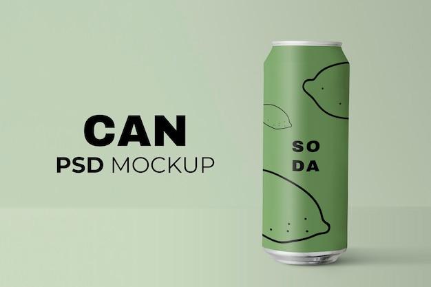 Grüne limonade kann eine psd-getränkeproduktverpackung nachbilden