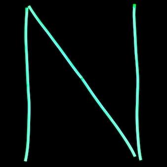 Grüne neonlichter buchstaben