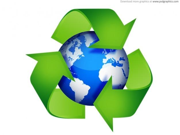 Grüne recycling-symbolen
