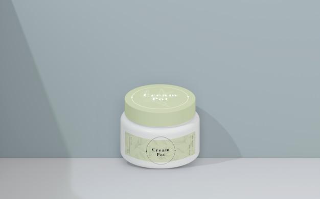 Grüne verpackung von kosmetischen produkten