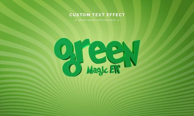 Grüner 3d-textstileffekt