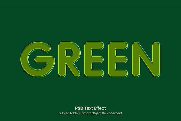 Grüner glatter texteffekt Premium PSD