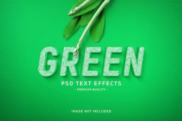 Grüner text-effekt
