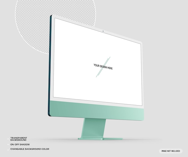 Grünes desktop-computermodell