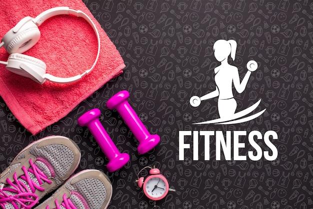Grundlegende fitnessgeräte und werkzeuge