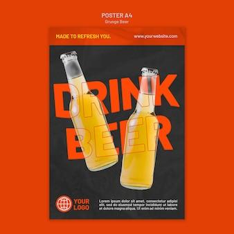 Grunge bier poster vorlage