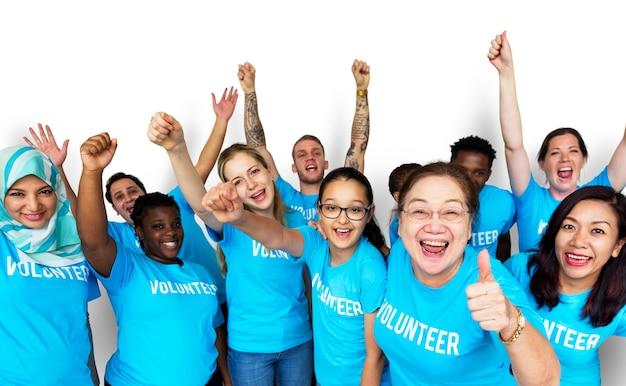 Gruppe von menschen mit charity-community-gemeinsamkeit