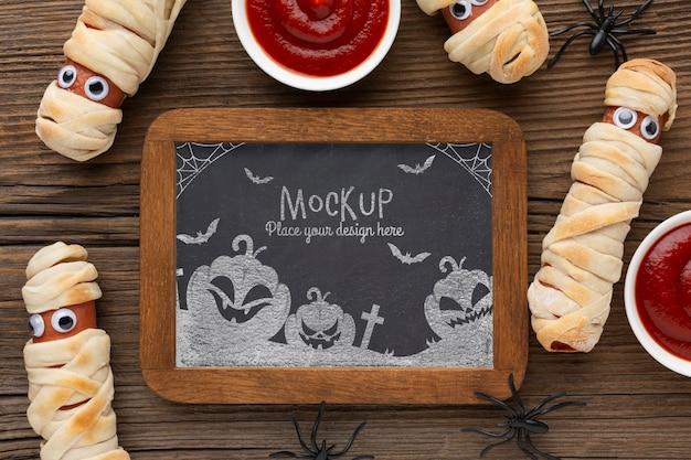 Gruseliges halloween-konzeptmodell