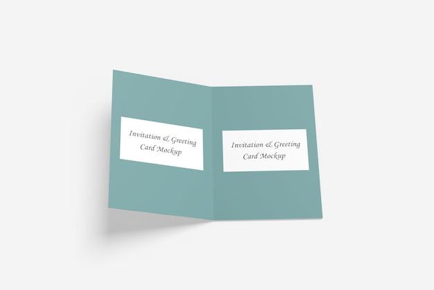 Gruß- oder einladungskarte mockup