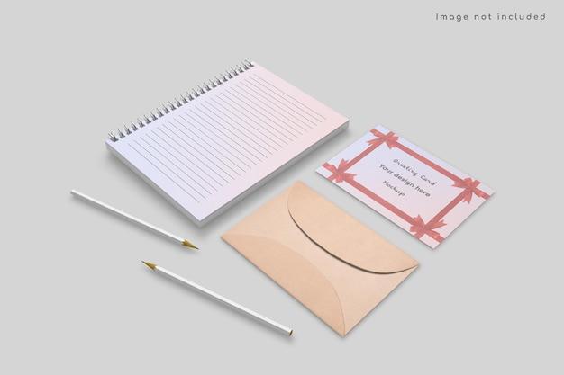 Grußkarte und briefpapiermodell